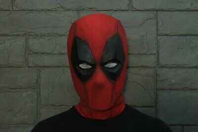 Halloween Mask Movie Quality (Deadpool Mask Halloween Cosplay Costume Hood Movie)