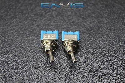 2 Pcs Toggle Switch Spst On Off Mini Toggle 3 Amp 250v 6 Amp 125v 2 Pin Ec-2510