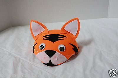 HALLOWEEN ORANGE TIGER HAT For ADULTS and KIDS UNISEX  PARTY FAVOR  G0534M - Halloween Party Favors Adults