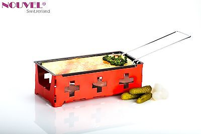 Nouvel Swiss H'eat Cheese Raclette oder Tapas Grill  überall Einsetzbar  rot