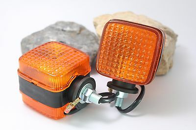 2 Pcs Turn Signal Light Flasher Lamp Tractor Yanmar Kubota Other Squre 2x2 Rear