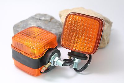 2 Pcs Turn Signal Light Flasher Lamp Tractor Yanmar Kubota Other Squre 2x2 Rear