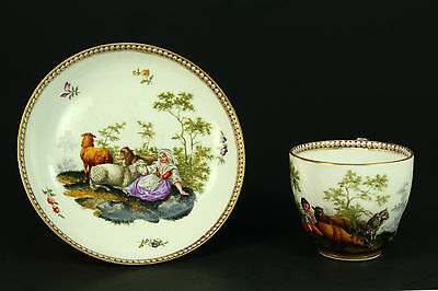 * 1774-1814 Marcolini Period MEISSEN Fine Porcelain Cup & Saucer