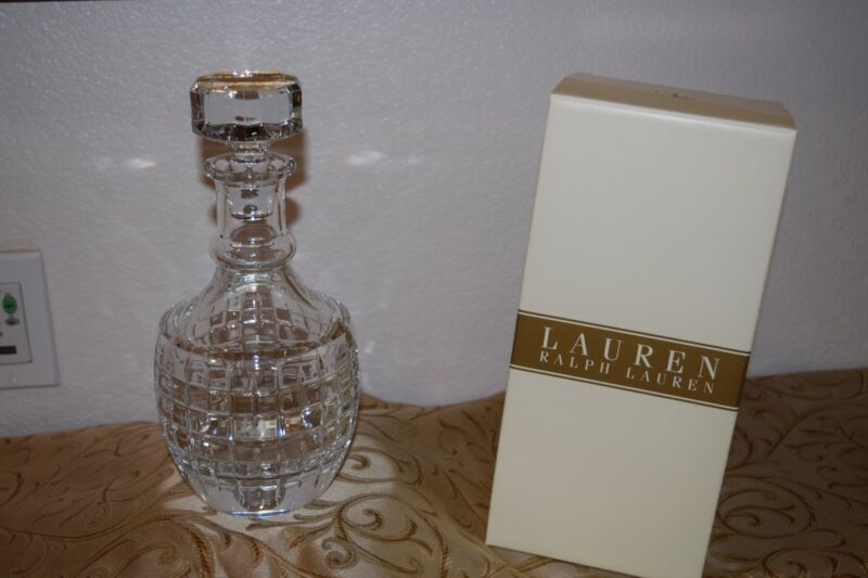 RALPH LAUREN CRYSTAL COCKTAIL PARTY DECANTER NEW