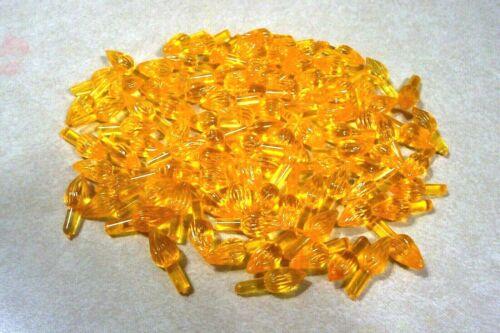 Vintage 100 Plastic Twisted Light Ceramic Christmas Tree Orange/Yellow Medium #3