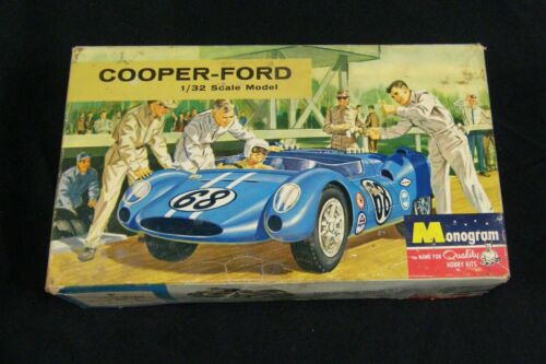 Monogram Cooper Ford 1/32 Scale PC100-100 Slot Car For Parts w/ Box
