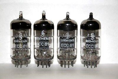 QUAD SIEMENS ECC81 12AT7 tested very good ECC81 #SI2