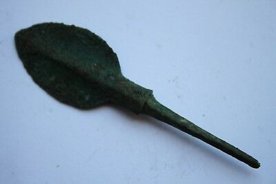 ANCIENT GREEK BRONZE ARROWHEAD 8/7th CENTURY BC