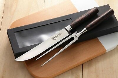 Zhen KATSURA Series Japanese High Carbon Steel 8 inch Carving Fork BBQ Set Serie Carving Fork
