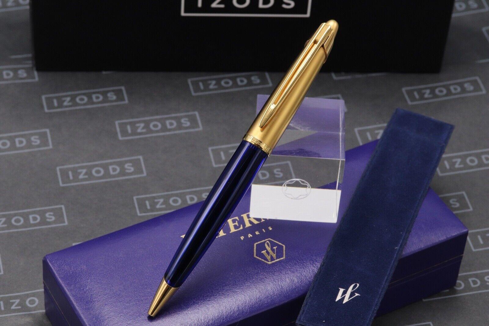 Waterman Edson Sapphire Blue Ballpoint Pen 1