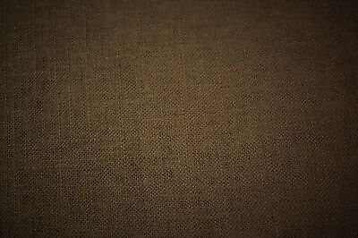 Umber Brown Canvas Fabric Upholstery Apparel Soft Cotton