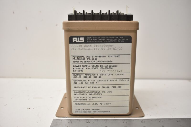 ROCHESTER INSTRUMENTS SYSTEMS PCE-30 WATT TRANSDUCER P1-E0-C5-X1-F60-W0-Z0-A1-G0