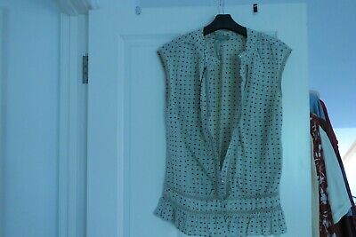 Hoss Intropia cotton sleeveless shirt/top size 38 (UK10)
