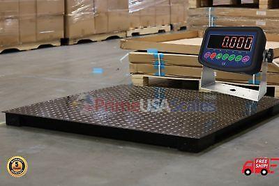 Floor Scaleheavy Duty Platform 48x48 10000 Lb By 0.5 Lb Accuracy