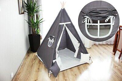 Tipi Teepee Indianerzelt Kinder Indianer Spielzelt Zelt mit 3 Kissen + GRATIS