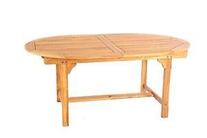 Teak Extending Oval Garden Table 170-220 x 100cm CLEARANCE (WAS £399 - NOW £109)
