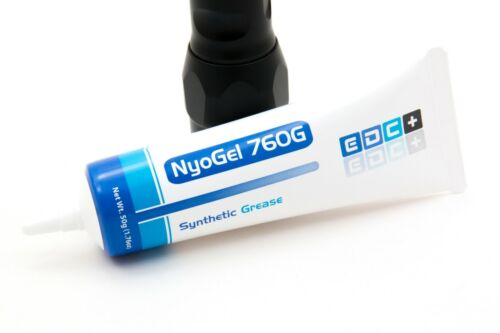 NyoGel 760G 50g (1.76oz) Tube Synthetic Flashlight Lubricant grease Made in USA