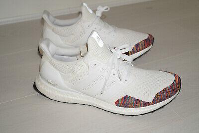 Adidas Ultraboost 1.0 Ltd 10.5 UK Ultra Boost White Rainbow BB7800 Primeknit