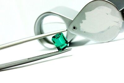 green emerald synthetic lab created 1.38ct new 7.98x5.99x4.17mm loose - Synthetic Emerald