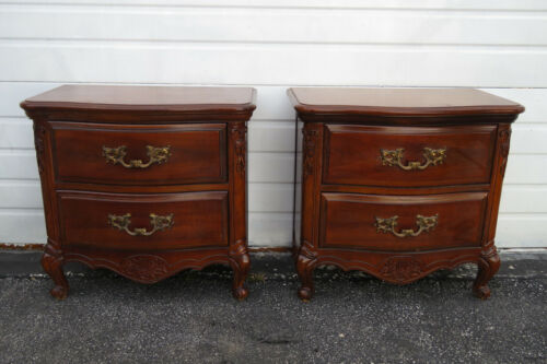 French Pair of Nightstands Side End Tables 1335