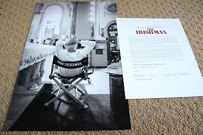 THE IRISHMAN MARTIN SCORSESE B&W SET PHOTO PRINT FYC LETTER EXTREMELY PRESS KIT