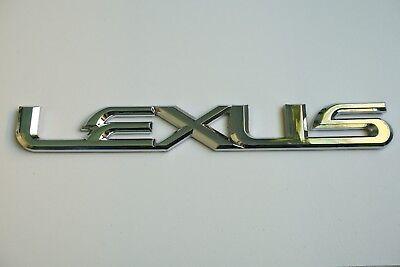 NEW For LEXUS TRUNK EMBLEM Chrome Badge Logo Sticker Name Letter Word IS GS ES  (Chrome Letter Emblem)