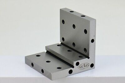 Angle Plate 4x4x4x1x12 Precision Steel Ground 0.0002 W. Tapped Holes R