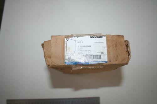 "(1 Box of 50 Pcs) Thomas & Betts 52 C 1, 4"" Square Cover Blank Flat"