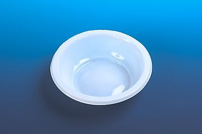 100 Disposable SMALL Plastic BOWLS..... party ware deep light weight quality new - Small Clear Plastic Disposable Bowls