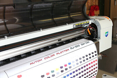 Mutoh Rj900 Dye Sublimation 44 Printer New Head Dx5 Epson Draftstation Ricoh
