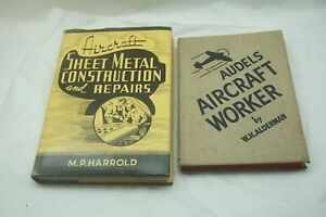 AUDELS AIRCRAFT WORKER SHEET METAL CONSTRUCTION REPAIRS WWII ERA BOOKS AIRPLANE