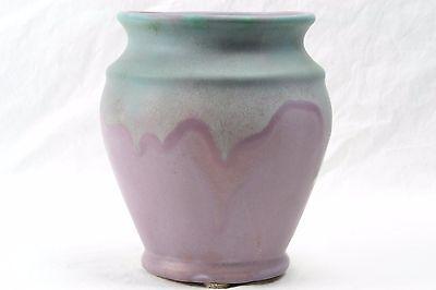 Muncie Pottery Vase, 1930 Green over Lilac Vase #415-6 MUNCIE 5A