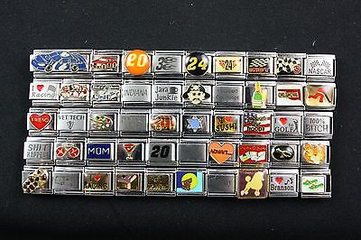 Italian Charms 50 assorted Stainless Steel Wholesale Lot 9mm (C50-11)