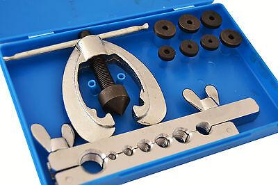Juego de abocardador para tubos de freno 9 piezas. Rebordeador, escariador.