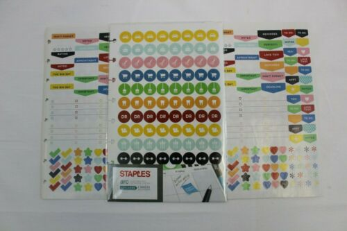 Staples Arc Planner Stickers: 3 full sets, 1 BRAND NEW in Packaging!