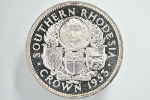 INVENTORY LIQUIDATION SALE 1953 Southern Rhodesia Proof Silver Crown KM# 27