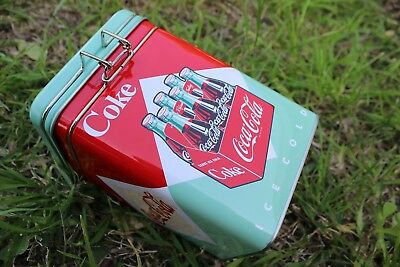 Coca Cola Metal Box Square with Lock-Up for Storing - Square Up Store