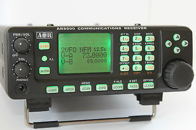 AOR AR8600MK2 Portable Communications Receiver Scanner 530Khz-3Ghz HF VHF UHF
