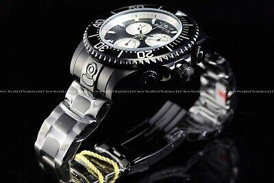 Invicta Men's 47mm Grand Diver Triple Black Chronograph Swiss Movement SS Watch