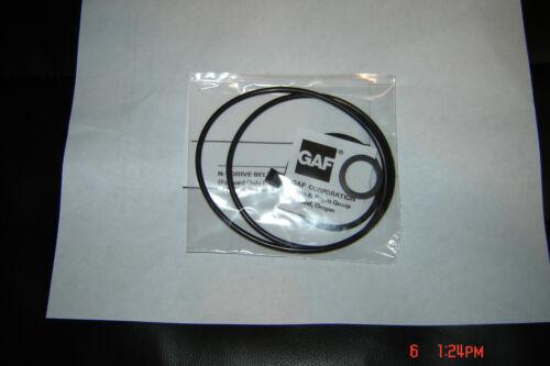 GAF 438-M2 Projector 2-Belt & 2-Tire Set & Instruction,GAF Projector Parts/Belts