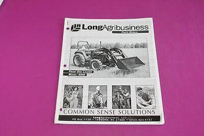 Long Agribusiness Model 5340 Front End Loader Parts Manual. Used. Stapled Corner