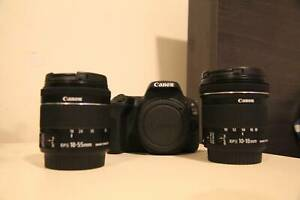Canon 200d with efs 10-18, efs 18-55 and extra battery