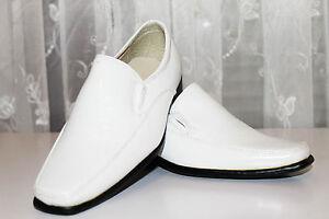 Kinder festliche Jungen Schuhe Hochzeit Kommunion Taufe weiss 29