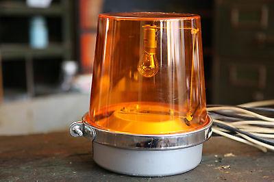 Vintage Beacon Light Lamp Emergency Lamp 120v Amber Globe Police Car Fire Truck