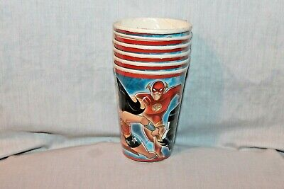 NEW IN PACKAGE JUSTICE LEAGUE 6- CUPS PARTY SUPPLIES  Youth League Package