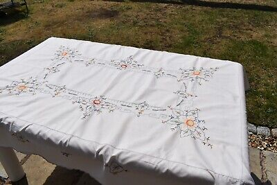 Vintage embroidery cotton table cloth 66