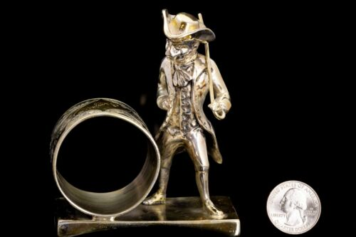 Victorian Figural Silver Plate Napkin Ring 18th Century Monkey Middleton #72
