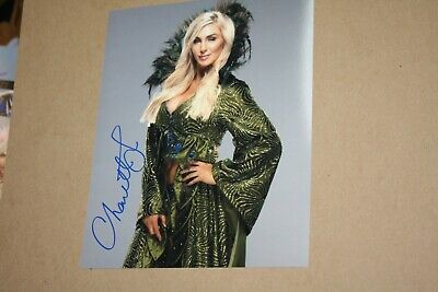WWE WOMENS CHAMPION CHARLOTTE FLAIR SIGNED AUTOGRAPHED 8X10 PHOTO QUEEN GREEN  ()