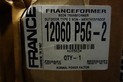 France Electric Sign Repair Parts 12060 P5g-2 Outdoor Type 2 Neon Transformer