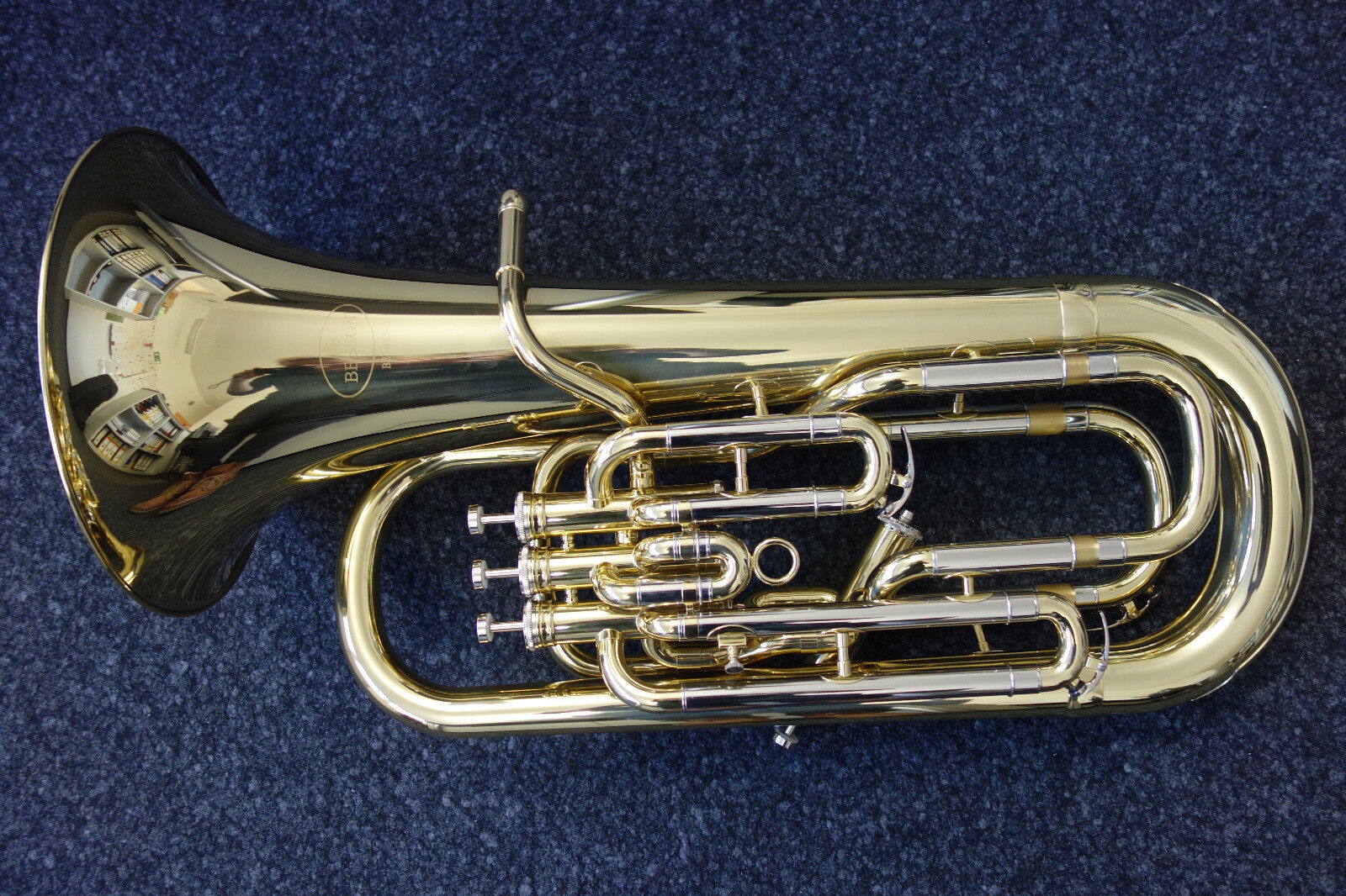 Blasinstrumente Bb Kaiserbariton Bariton Silber Euphonium Drehventile